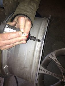 Stage 1 (repair of cracked alloy wheel)