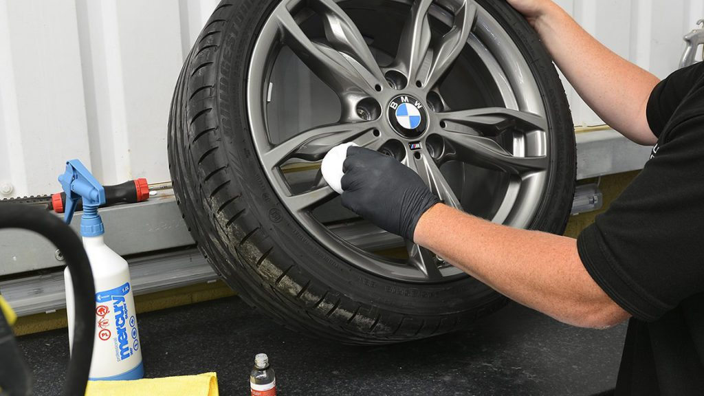 Alloy wheel ceramic protection