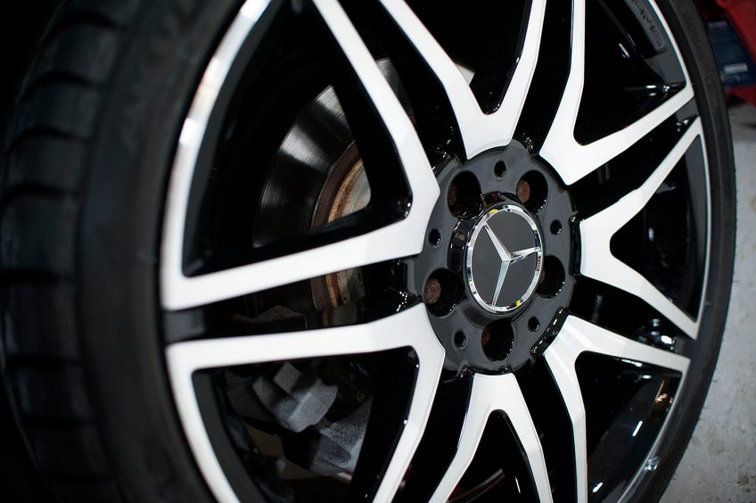 The problem with Diamond cut alloy wheels?